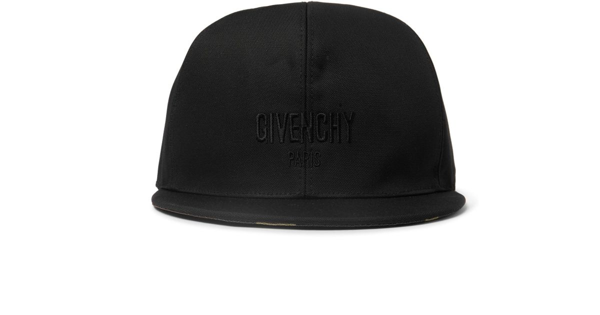 48ba46a9e7f Lyst - Givenchy Embroidered Canvas Baseball Cap in Black for Men