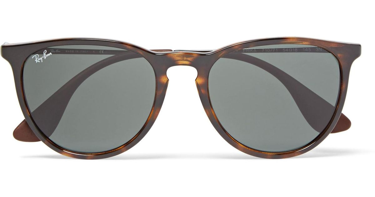 56a263b53 Ray-Ban Erika Round-frame Tortoiseshell Acetate Sunglasses in Brown for Men  - Lyst