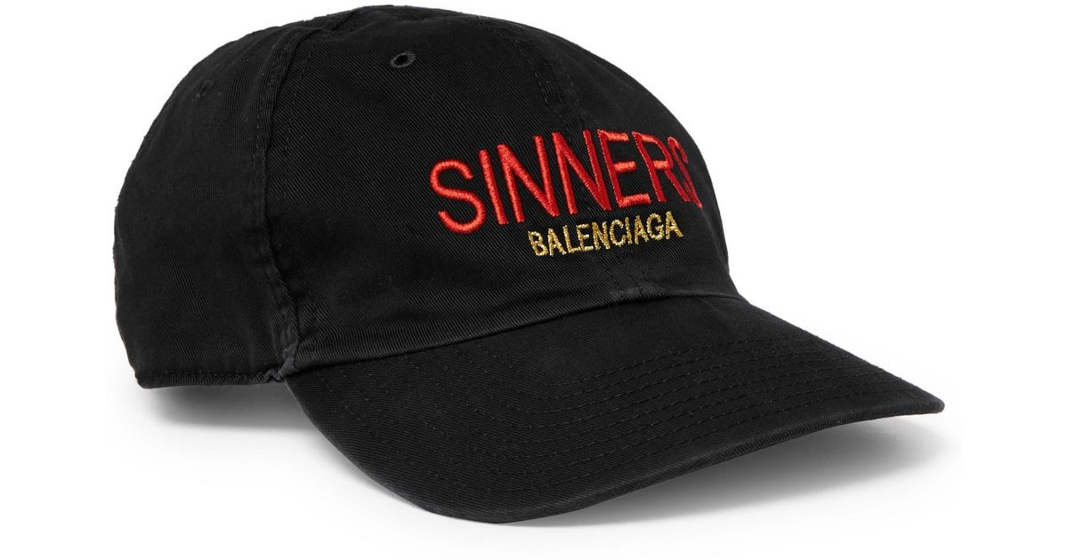 a1be6f10773 ... Lyst - Balenciaga Sinners Embroidered Cotton-twill Baseball Cap in Black  for Men new arrival  Balenciaga Homme logo ...
