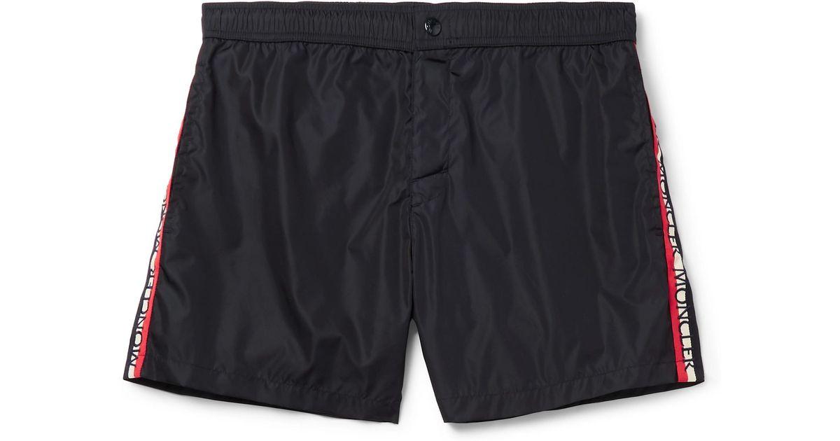 concha de de cortos Moncler recortados Grosgrain de natación Pantalones q4fBxCw
