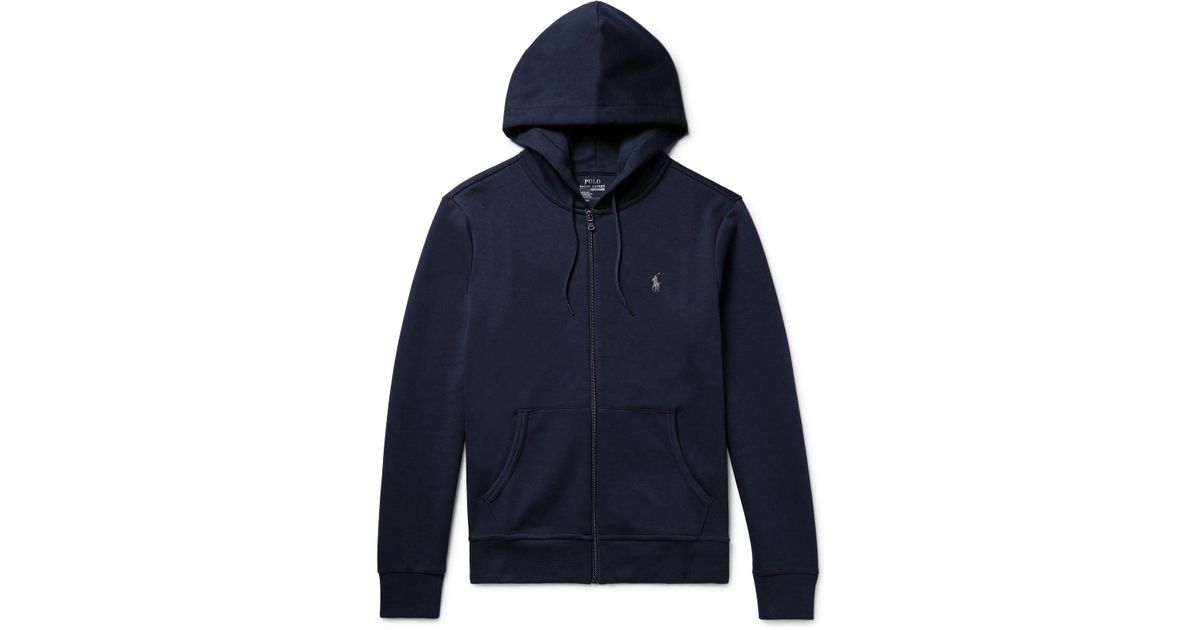 Hoodie Zip Polo Lauren Midnight up Ralph Jersey Blue ZEqHq