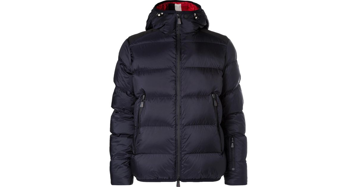 Lyst - Moncler Grenoble Hintertux Quilted Shell Hooded Jacket in Blue for Men