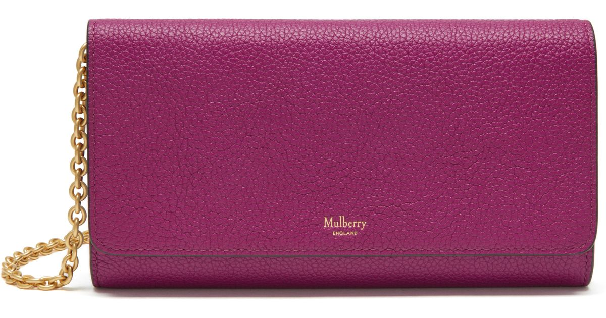 d6a90f8f1b usa mulberry leather lizard effect wallet 73a89 f4596  real lyst mulberry  continental clutch bag in purple 5c959 552e9