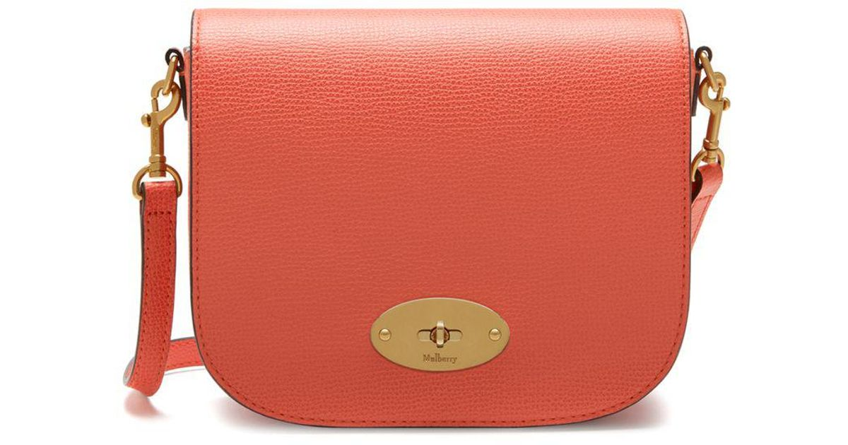 Lyst - Mulberry Small Darley Satchel In Coral Rose Cross Grain Leather in  Pink c8aa160f85ab4