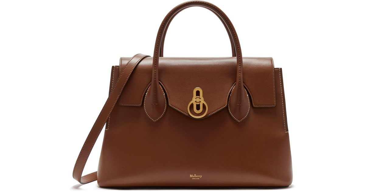 Mulberry Seaton In Tan Silky Calf in Brown - Lyst 75b1c3d7a02d7