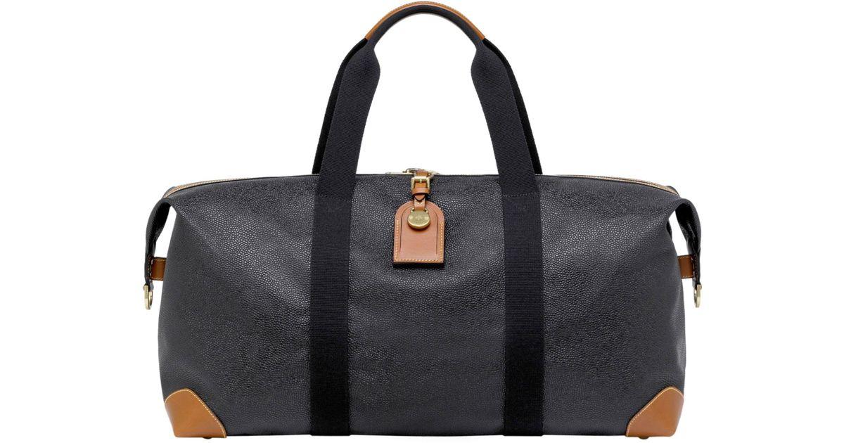 e06b9a614a81 Lyst - Mulberry Medium Clipper In Black And Cognac Scotchgrain in Black for  Men