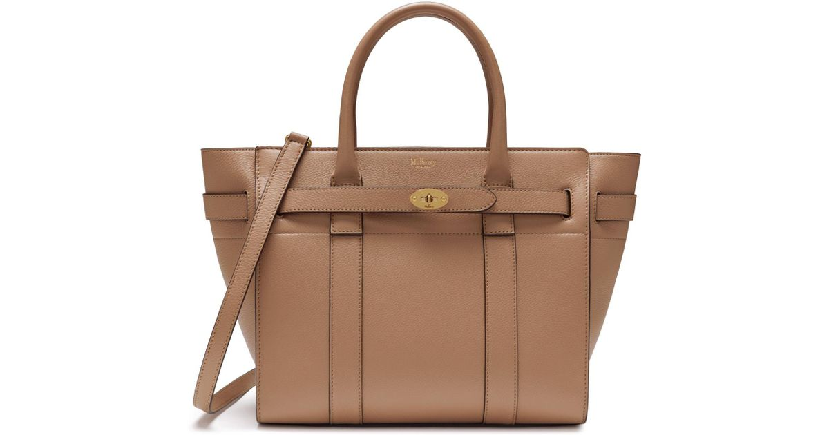 Lyst - Mulberry Small Zipped Bayswater In Blush Small Classic Grain in Brown 0663fa6dc7