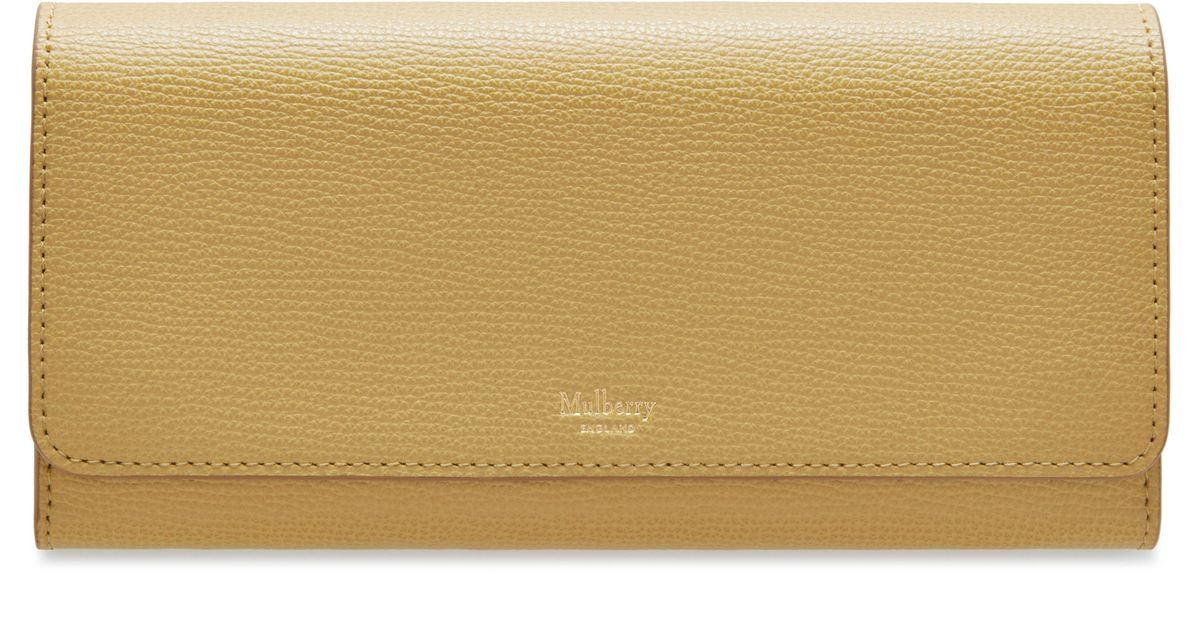 5545787c5d1 ... discount code for lyst mulberry continental wallet in yellow c9178 ad06f