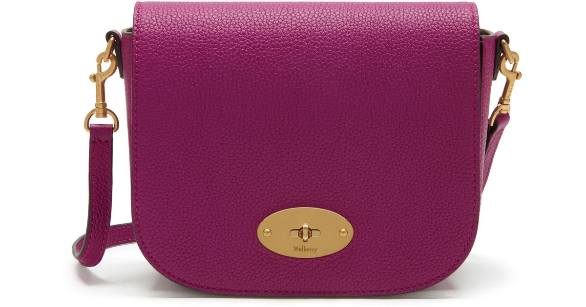 4cf0fadc3e Mulberry Small Darley Satchel in Purple - Lyst