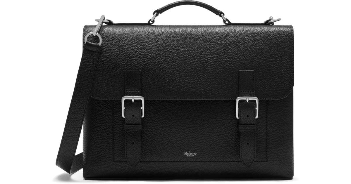 0f3e21fcfa7 Lyst Mulberry Chiltern Briefcase In Black For Men