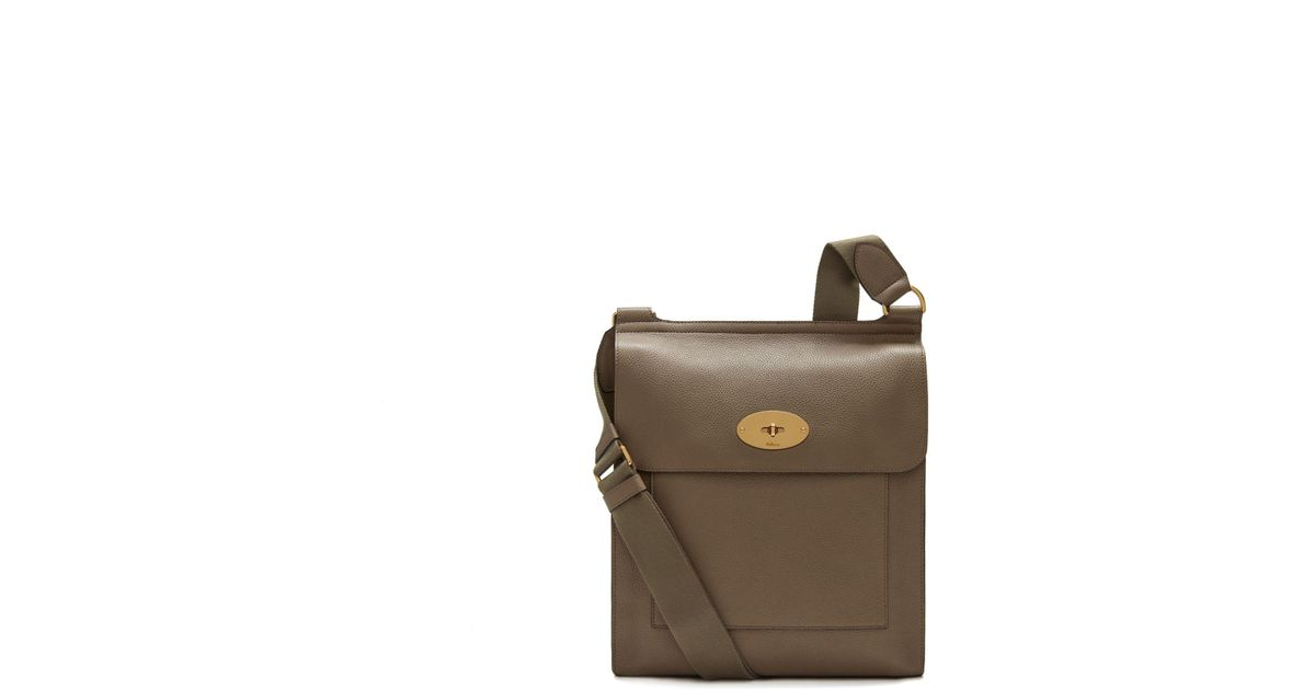 Lyst - Mulberry New Antony Messenger In Clay Small Classic Grain in Brown  for Men 8f08823b7cdf8