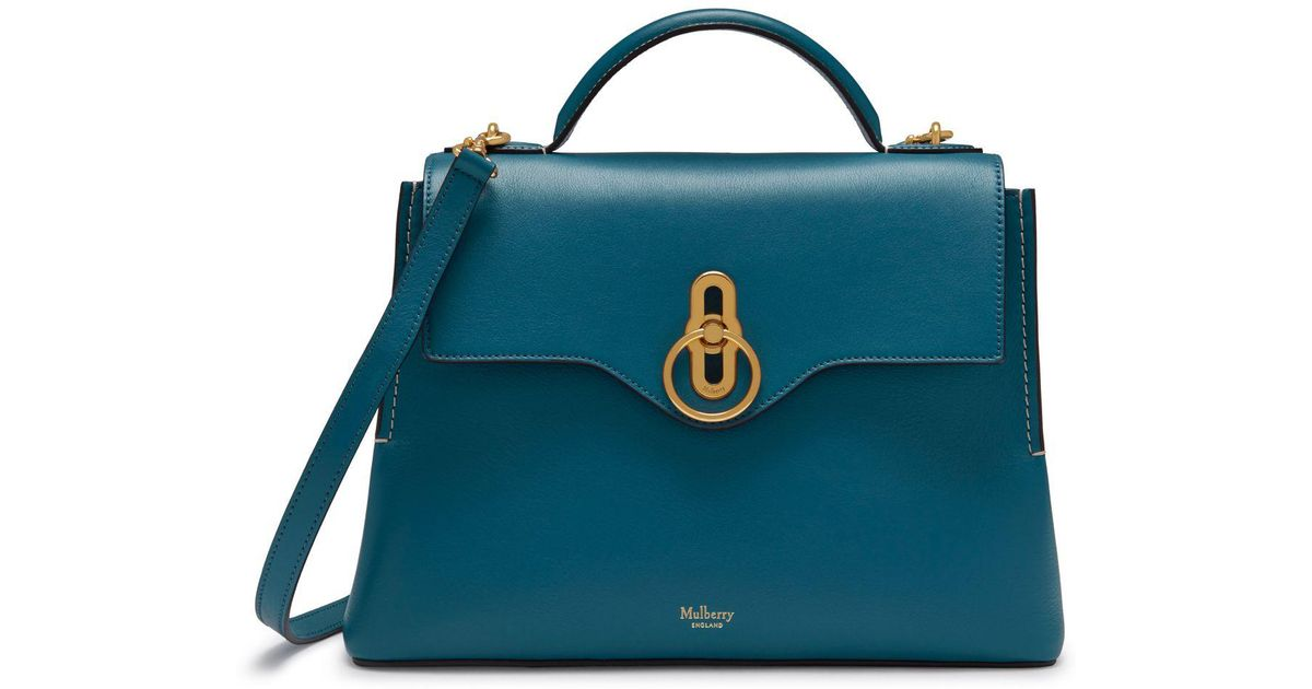 Mulberry Small Seaton In Metal Blue Silky Calf in Blue - Lyst 62d330871e9ae