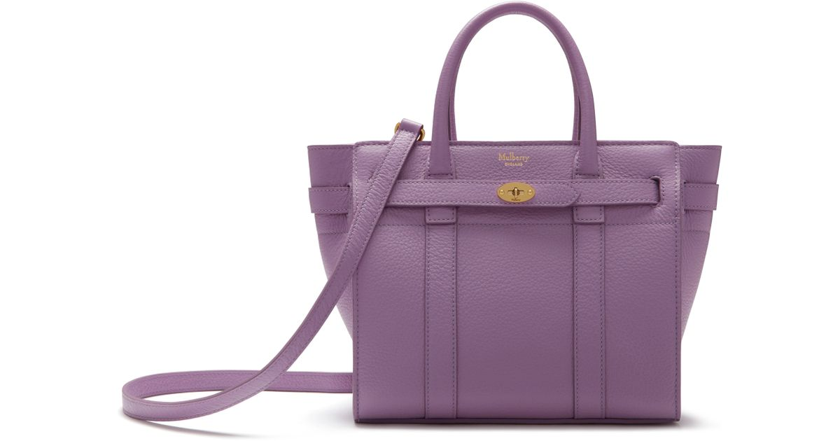 ... promo code for mulberry mini zipped bayswater in purple lyst 5d3cb dbc7c b90a6d33e2
