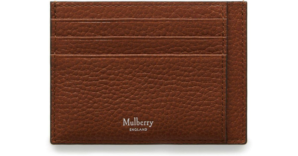 e42564b6a87c Mulberry Card Holder In Oak Natural Grain Leather in Brown for Men - Lyst