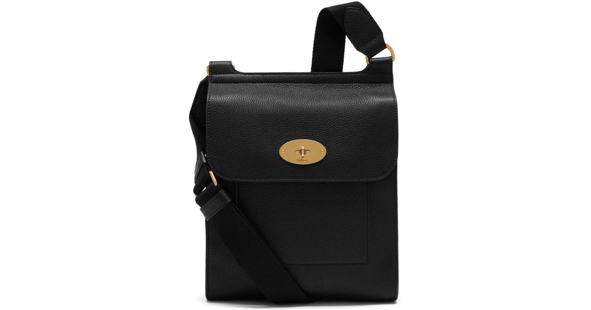 dee4228fbbd Lyst - Mulberry New Antony In Black Small Classic Grain in Black for Men -  Save 11%