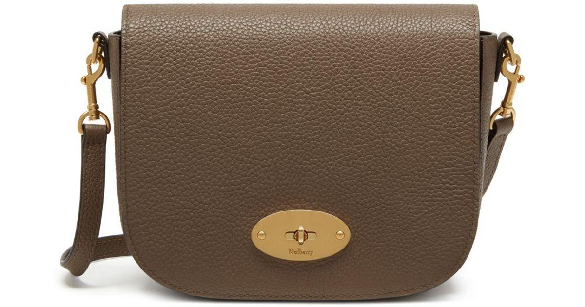 a1f9702bc574 Mulberry Small Darley Satchel In Clay Small Classic Grain in Brown - Lyst