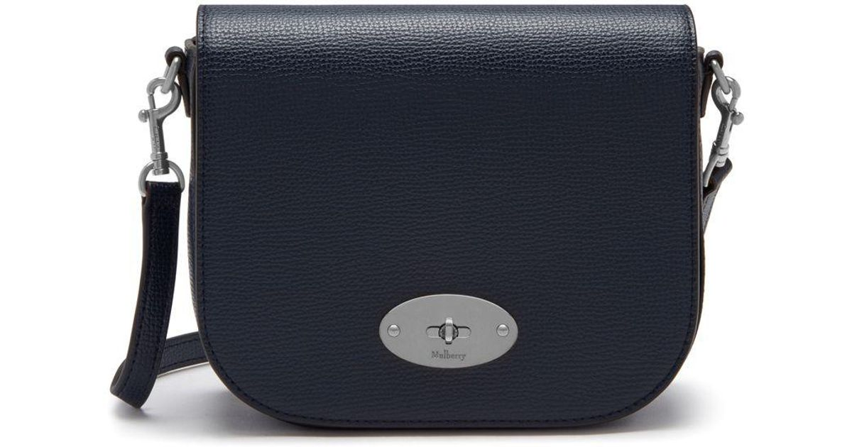 56611334d1 Lyst - Mulberry Small Darley Satchel In Bright Navy Cross Grain Leather in  Blue