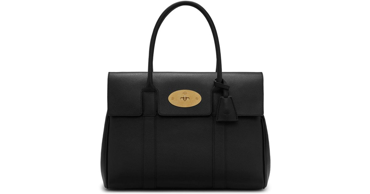 dd421f99d518 Lyst - Mulberry Heritage Bayswater In Black Small Classic Grain in Black