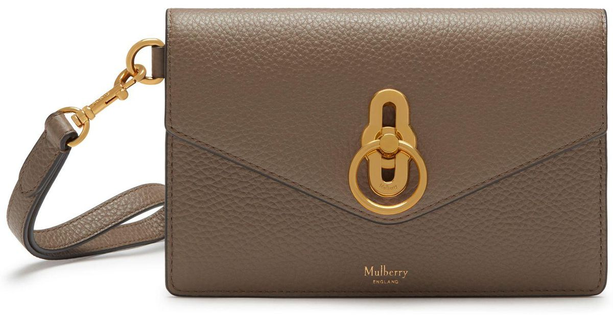 a0c2350b0 Mulberry Amberley Phone Clutch In Clay Small Classic Grain in Brown - Lyst