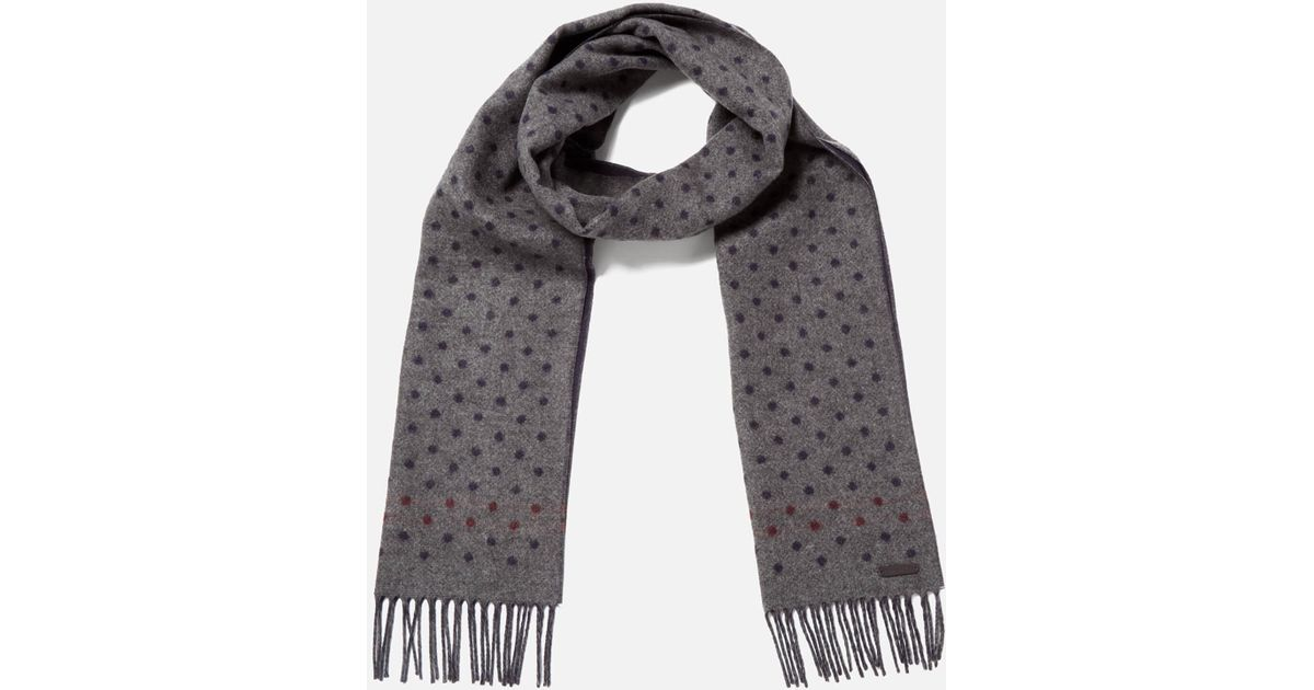 e94788be04fa Ted Baker Redpine Spot Scarf for Men - Lyst