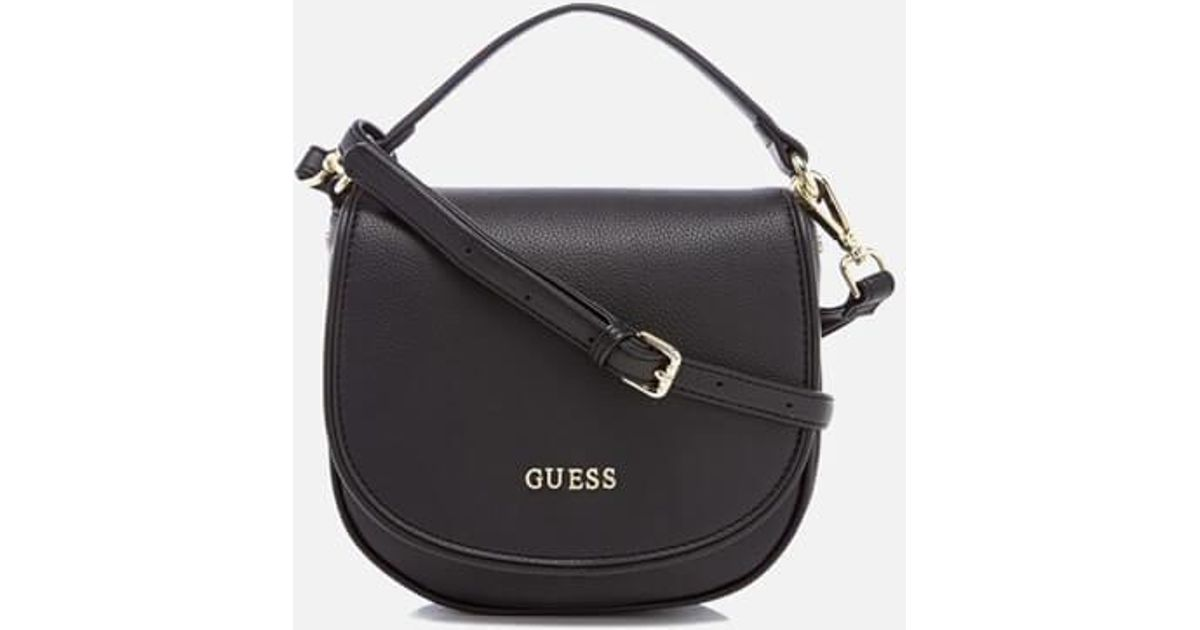 Guess Sun Small Shoulder Bag in Black - Lyst