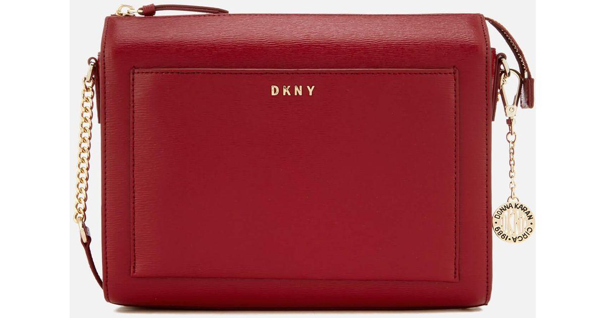 f88bea882a74 DKNY Sutton Medium Box Cross Body Bag in Red - Lyst