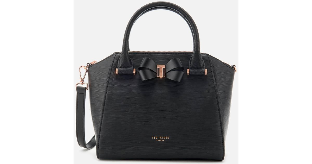 d2ce6d3c2 Lyst - Ted Baker Charmea Bow Detail Small Tote Bag in Black