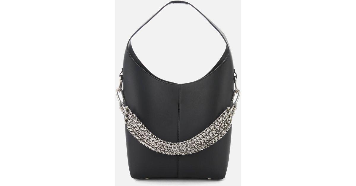 Lyst - Alexander Wang Genesis Mini Hobo Bag in Black 5b03d8108e
