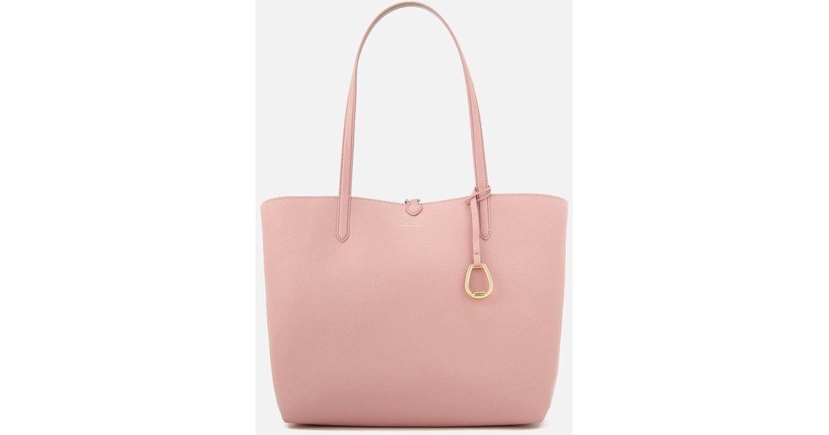 0f84b62175c5 Lyst - Lauren by Ralph Lauren Merrimack Reversible Tote Bag in Pink