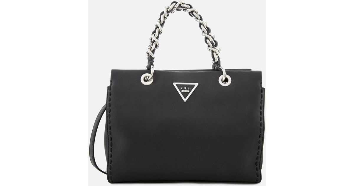Guess Sawyer Small Girlfriend Bag in Black