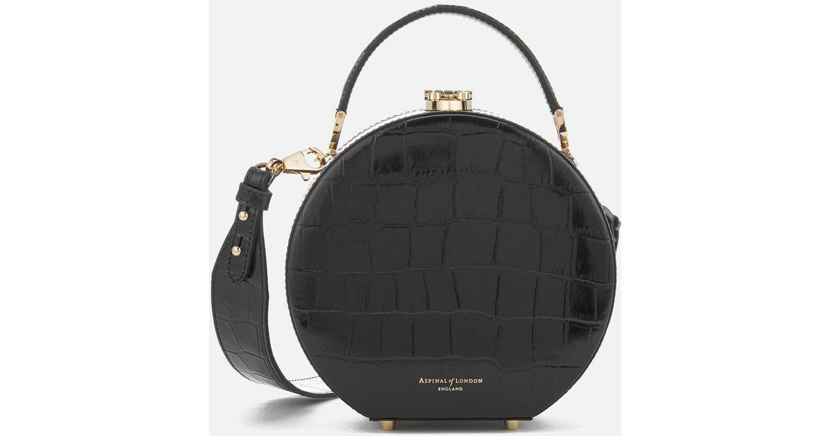 Aspinal of London Hat Box Mini Bag in Black - Lyst 7b6a80708db4