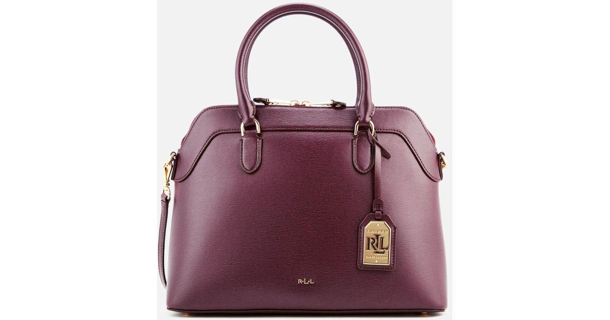 e4cdad32836d Lyst - Lauren by Ralph Lauren Newbury Nora Satchel in Purple