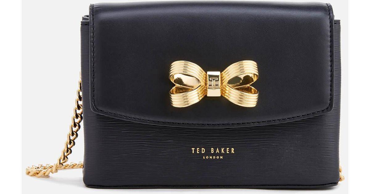 3a897eb246d3c Lyst - Ted Baker Leorr Looped Bow Mini Cross Body Bag