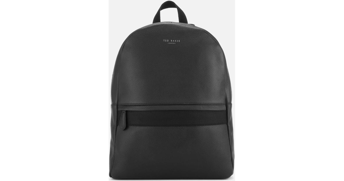 6a0609dab Lyst - Ted Baker Rickrak Leather Backpack in Black for Men