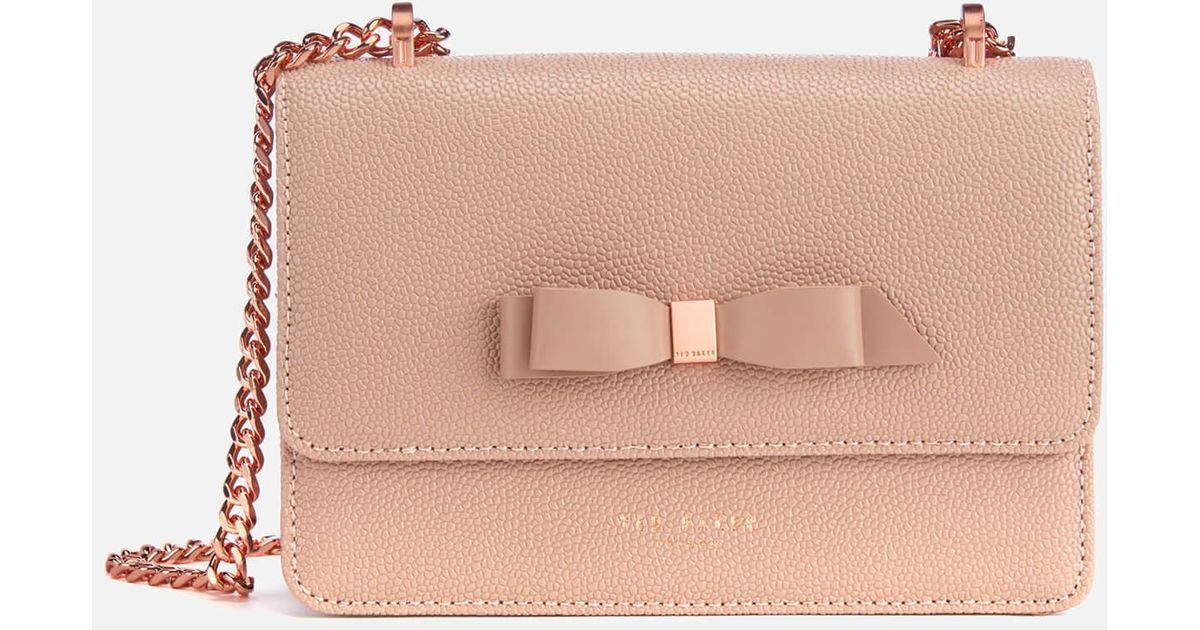 0c4d524f48f Ted Baker Jayllaa Bow Detail Micro Cross Body Bag in Pink - Save 30% - Lyst