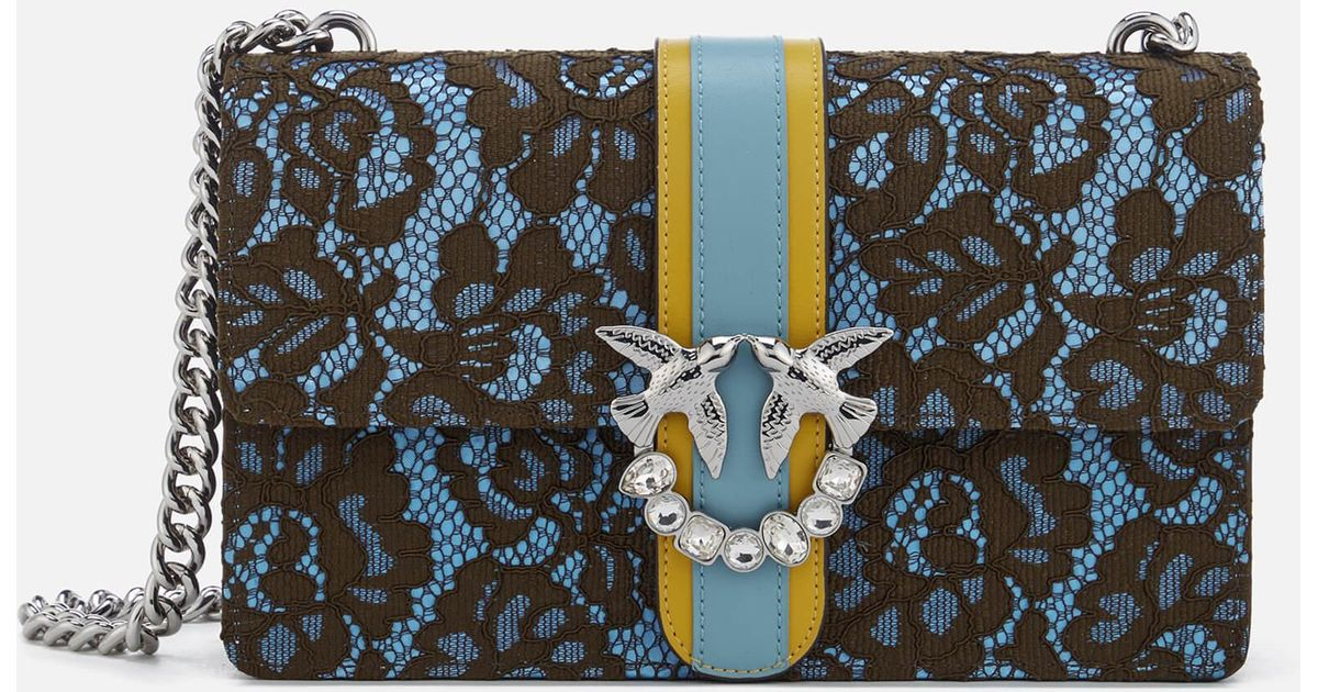 432228305d3 Lyst - Pinko Love Lace Cross Body Bag in Blue