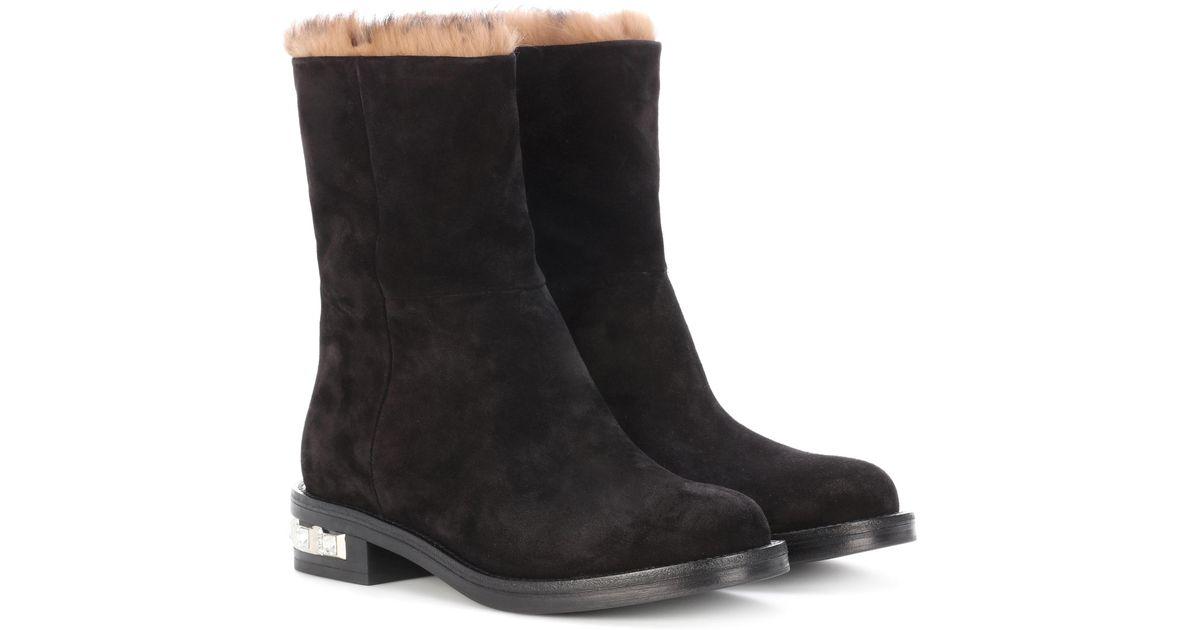 Miu Miu Fur-lined suede boots vwwyQOdovy