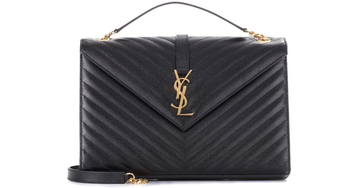 c99ffe6eaf Lyst - Saint Laurent Large Monogram Envelope Shoulder Bag in Black