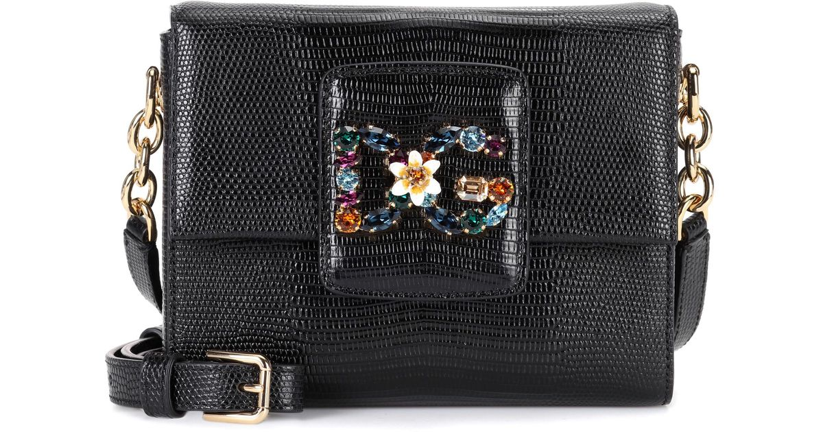 Lyst - Dolce   Gabbana Dg Millennials Leather Shoulder Bag in Black abef20a74c82b