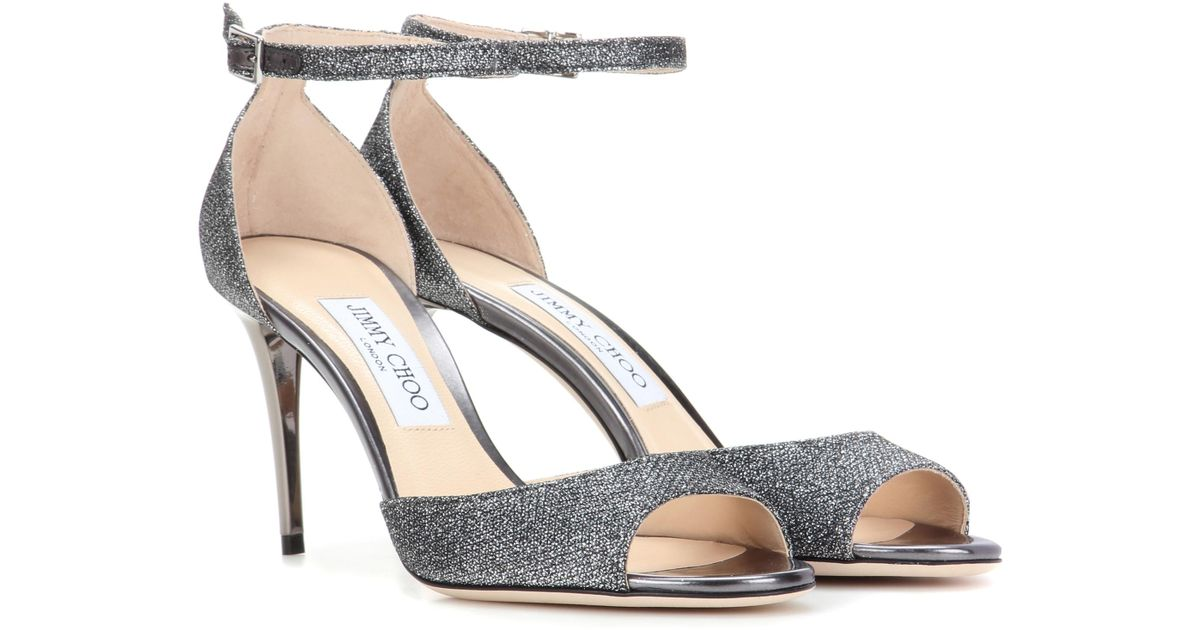 5eee08fd2ea3 Lyst - Jimmy Choo Annie 85 Sandals in Metallic - Save 30%