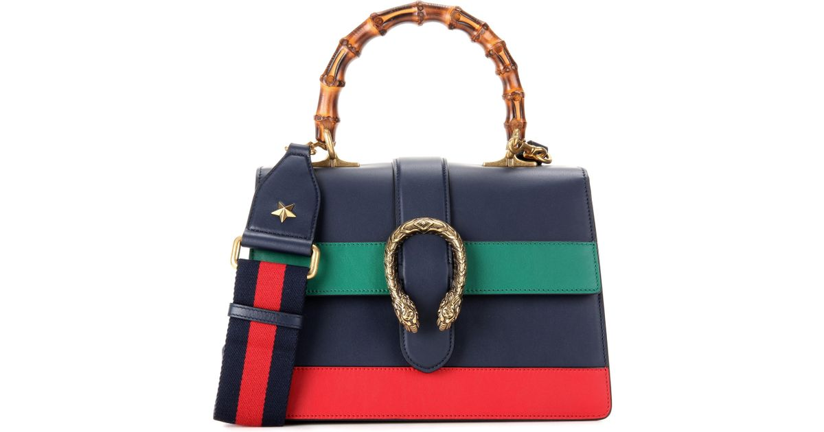 d25cfdb96c79 Gucci Dionysus Bamboo Medium Leather Shoulder Bag in Blue - Lyst