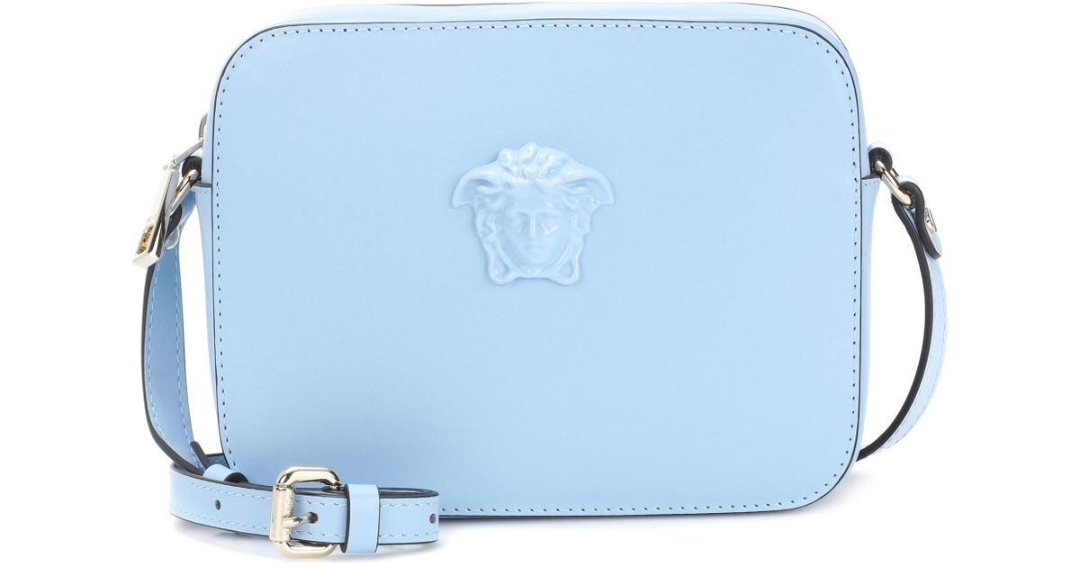 5f12ec0e2c Lyst - Versace Palazzo Leather Shoulder Bag in Blue