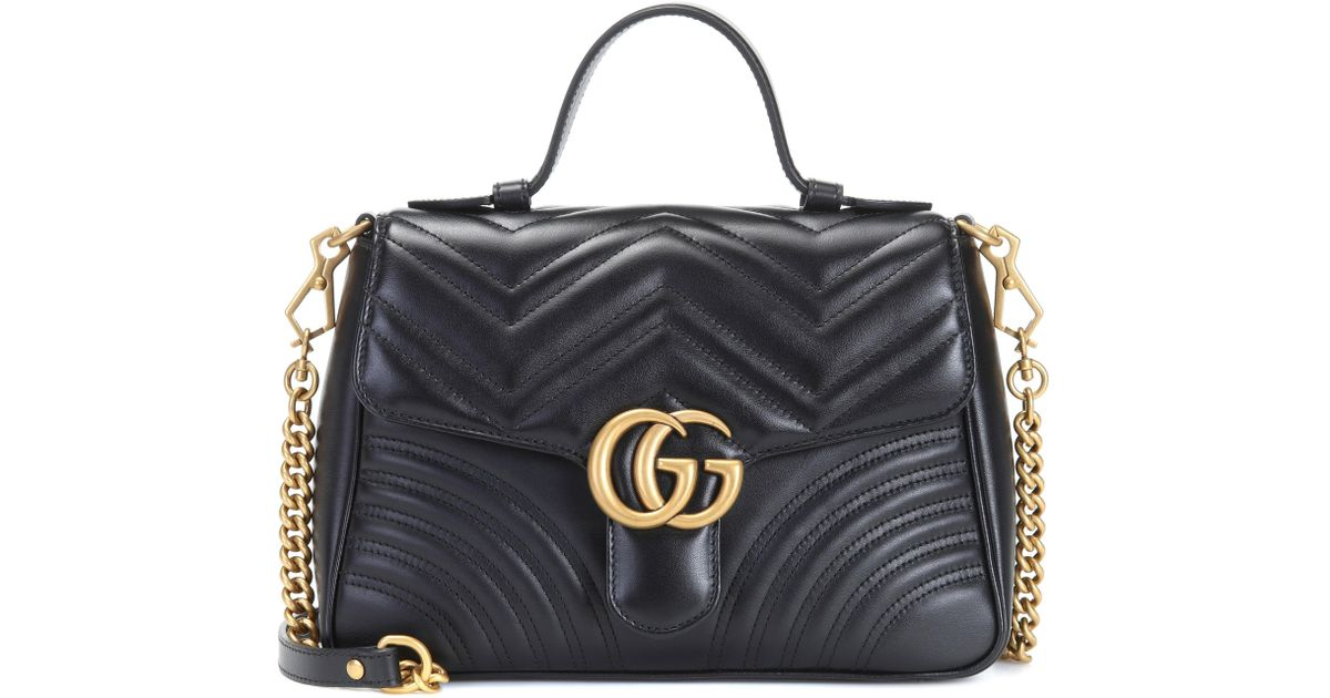 e9725b113 ... 17d306aad856 Gucci Gg Marmont Mini Quilted Leather Shoulder Bag in  Black - Save 26% ...