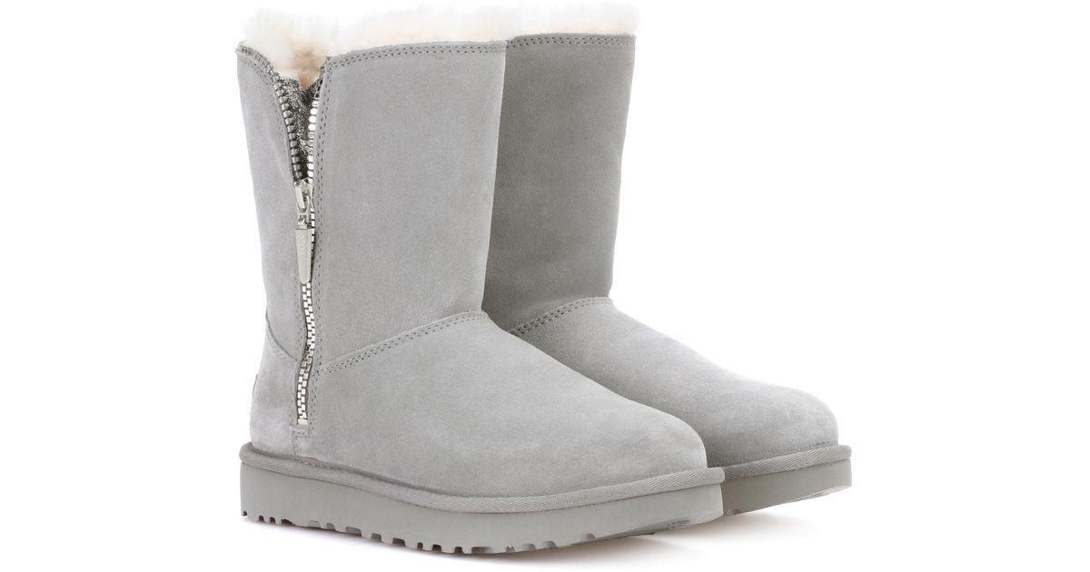 UGG Ankle Boots MARICE suede light glitter detail fur V5vA6zm9f