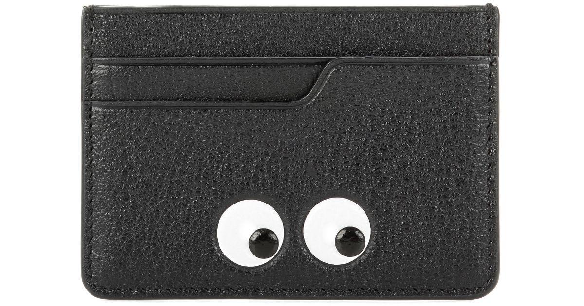Porte-cartes en cuir Eyes vxvQbrzd6a
