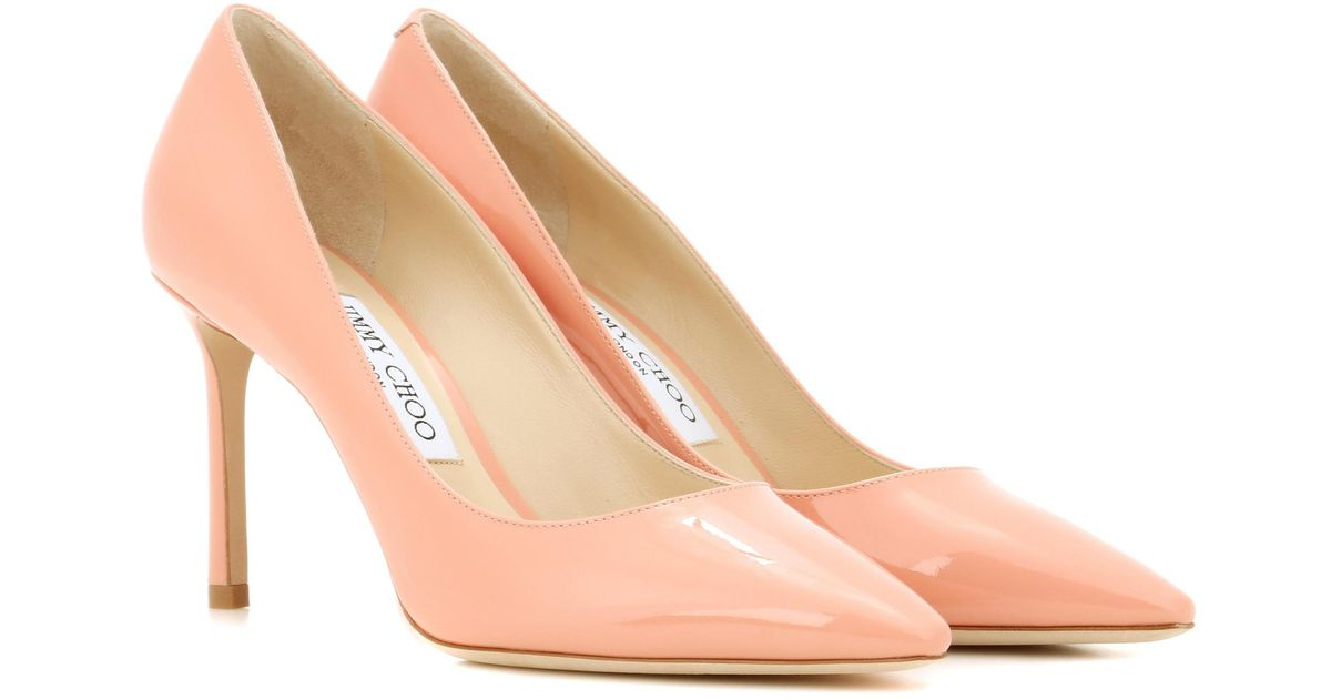 Jimmy choo Pink Romy 85 Patent Leather Pumps boBh51hwp7