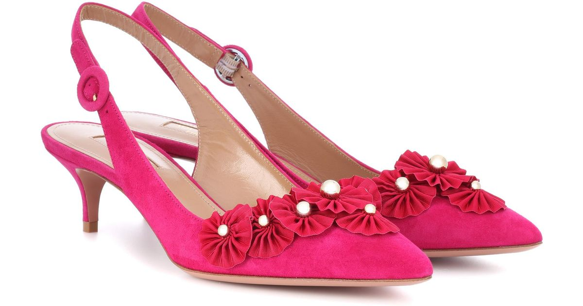 Exotic 45 suede slingback pumps Aquazzura 6lQ5VW