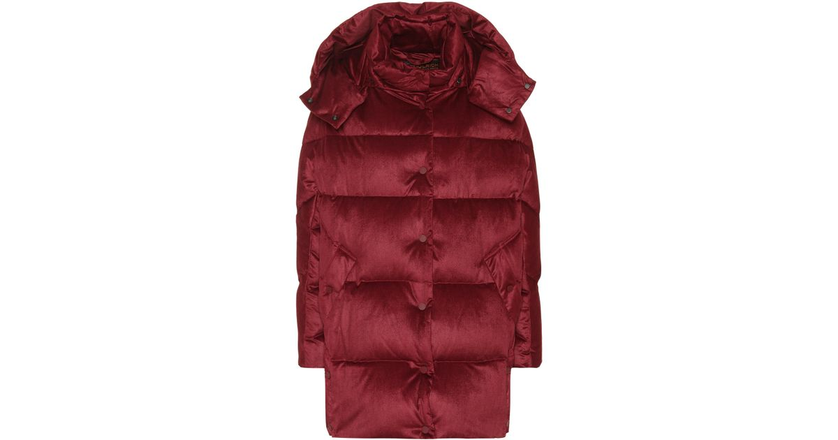 572dd809a7e Lyst - Exclusivo en Mytheresa - abrigo de plumas Woolrich de color Rojo