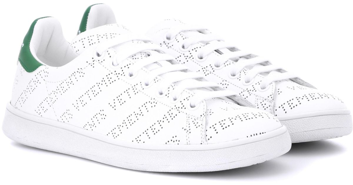 314a3fa7932 Lyst - Vetements Perforated Leather Sneakers in White