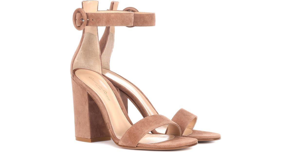 Exclusive to mytheresa.com - Versilia 60 suede sandals Gianvito Rossi nNIVCF